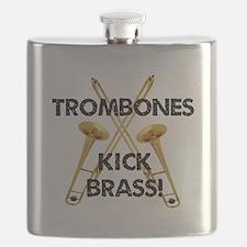 Trombones Kick Brass Flask