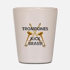 Trombones Kick Brass Shot Glass