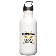 Trombones Kick Brass Water Bottle