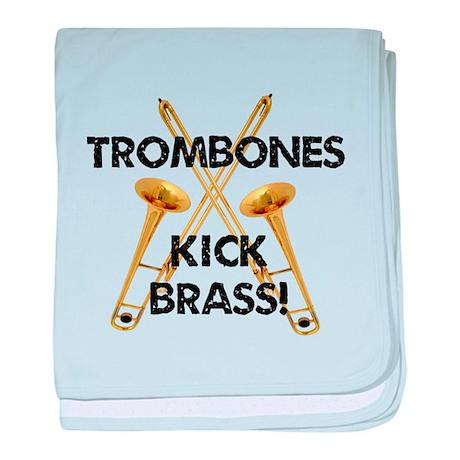 Trombones Kick Brass baby blanket