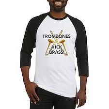 Trombones Kick Brass Baseball Jersey