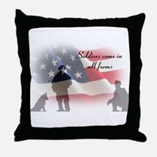 K-9 soldiers Throw Pillow