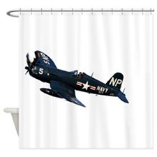 Corsair fighter Shower Curtain