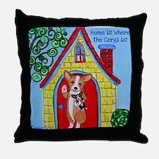 Home is Where The Corgi is Throw Pillow