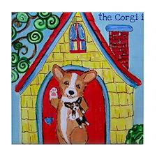 Home is Where The Corgi is Tile Coaster