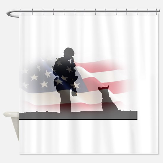 Soldier and shepard Shower Curtain