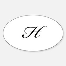 Bickham Script Monogram H Decal