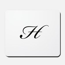 Bickham Script Monogram H Mousepad
