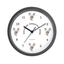 Chinese crested dog Wall Clock