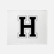 Collegiate Monogram H Throw Blanket