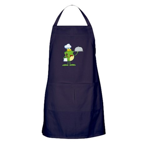 funny chef waiter froggy frog serving food Apron (