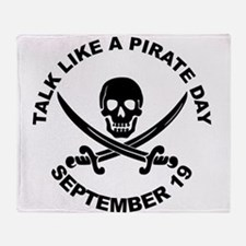 Talk Like A Pirate Day Throw Blanket