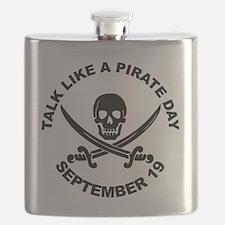 Talk Like A Pirate Day Flask