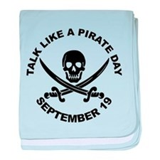 Talk Like A Pirate Day baby blanket