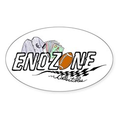 ENDZONE COLLECTIBLES Oval Decal