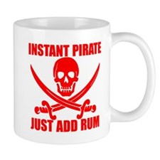 Red Instant Pirate Mug
