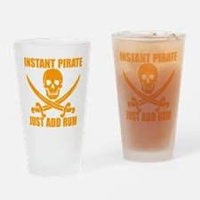 Orange Instant Pirate Drinking Glass