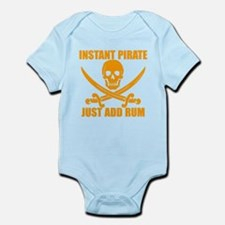 Orange Instant Pirate Body Suit