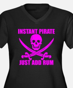 Pink Instant Pirate Plus Size T-Shirt