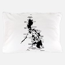 Philippines Map Pillow Case