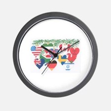 12 Months of Christmas Wall Clock