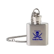 To Arr Is Pirate Blue Flask Necklace