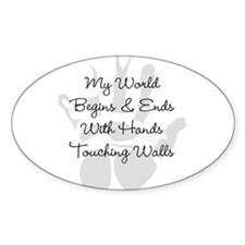 Hands Touching Walls Decal
