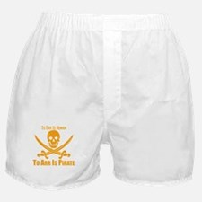 To Arr Is Pirate Orange Boxer Shorts