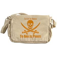 To Arr Is Pirate Orange Messenger Bag