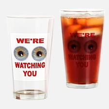 WATCHING Drinking Glass