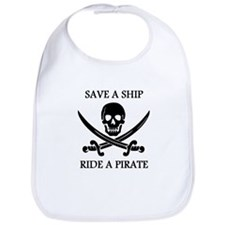Save A Ship Ride A Pirate Bib