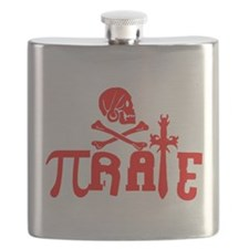 Pi-rate Red Flask