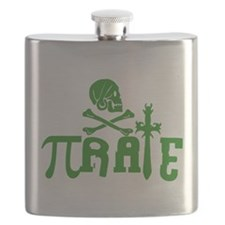Pi-rate Green Flask