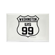 US Route 99 - Washington Rectangle Magnet