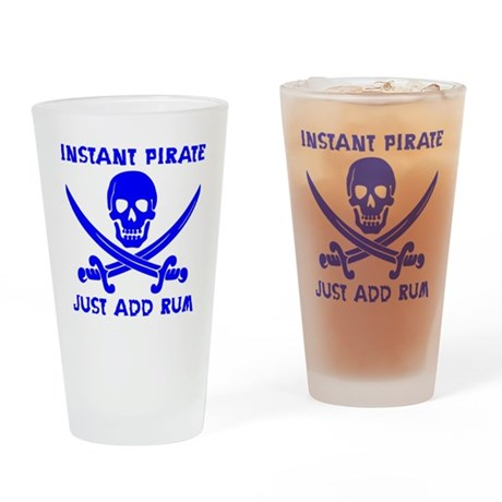 Instant Pirate Blue Drinking Glass