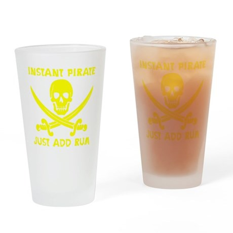 Instant Pirate Yellow Drinking Glass