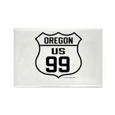 US Route 99 - Oregon Rectangle Magnet