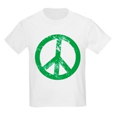 Green Distressed Peace T-Shirt