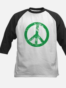 Green Distressed Peace Baseball Jersey