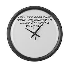 Unique Read a book Large Wall Clock