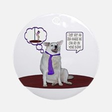 Husky Birthday Ornament (Round)