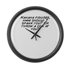 Unique Spank Large Wall Clock