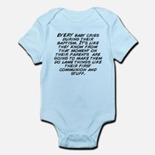EVERY baby cries during their baptism. It&apos ...