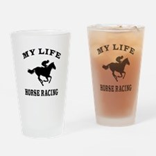 My Life Horse Racing Drinking Glass