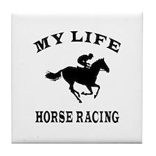 My Life Horse Racing Tile Coaster