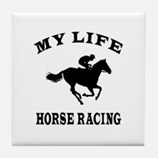My Life Horse Racing Tile Coaster
