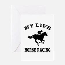My Life Horse Racing Greeting Card