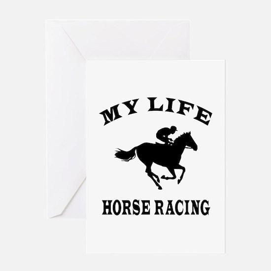 My Life Horse Racing Greeting Card