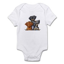 Doxie Trio Infant Bodysuit