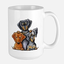 Doxie Trio Large Mug